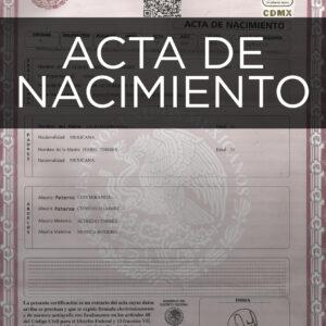 Acta de Nacimiento Pedro Escobedo