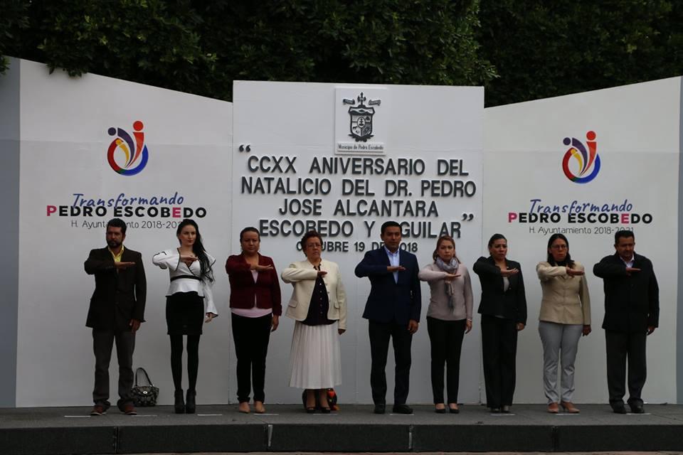 """PRESIDE AMARILDO BÁRCENAS CEREMONIA DEL """"CCXX ANIVERSARIO DEL NATALICIO DOCTOR PEDRO ESCOBEDO"""""""